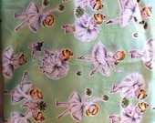 Retro Ballerina Fabric - 1 1/2 yard