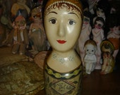 Antique Style Mannequin Head Hat Display #1
