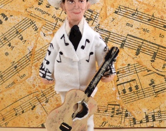 Hank Williams Doll Miniature Country Music Fan Art Collectible