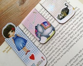 Magnetic Bookmarks - Set of 3 Little Curly and friends bookmark (Set A)