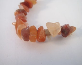 1 strand of Red Agate stone chips, red agate bead, 15 inch strand