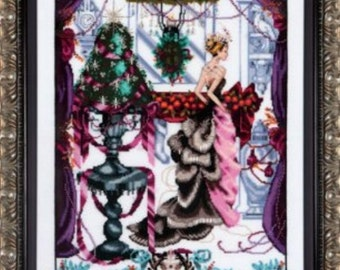 Cross Stitch Pattern, Christmas in London Counted Cross Stitch Pattern, by Nora Corbett, Mirabilia Designs, WI