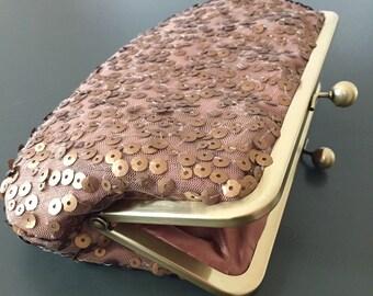 Sale - Antique Gold and Bronze Sequin Clutch