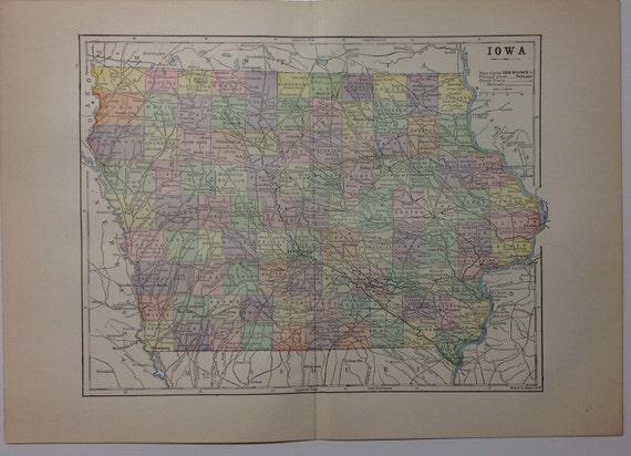 1897 Iowa State Map