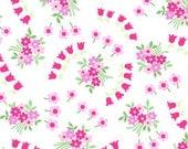 Fog City Kitty---Swirly Blossom in White---1 yard---Pam Kitty Morning for Lakehouse Dry Goods