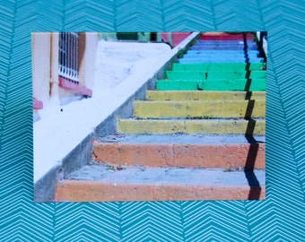 Rainbow Stairs Notecard