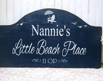 Custom beach cottage, Little beach place, personalized beach house sign, beach bungalow wooden sign, little beach place, Cape House sign