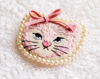 Kitten Art Brooch
