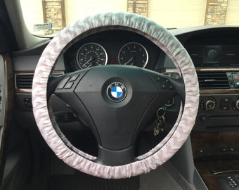 Grey Chevron Steering Wheel Cover