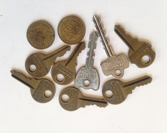Vintage Collection of Master Keys and Tokens