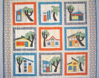 ADOBE Southwestern House Quilt Pattern from Quilts by Elena
