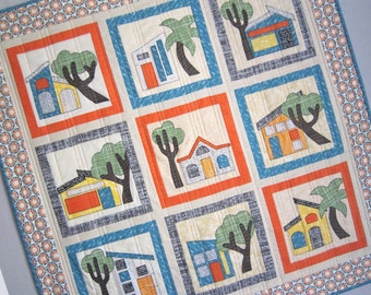 ADOBE Southwestern House Quilt from Quilts by Elena