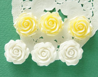 6 pcs Pearlized Rose Cabochon (22mm23mm) FL415