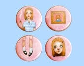 Margot Tenenbaum | 1 Inch Pin | 4 Pack