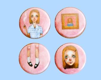 Margot Tenenbaum | 1 Inch Pin | 4 Pack