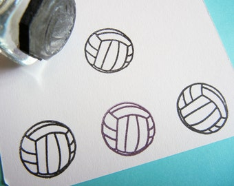 Tiny Volleyball Sports Rubber Stamp  - Handmade by BlossomStamps