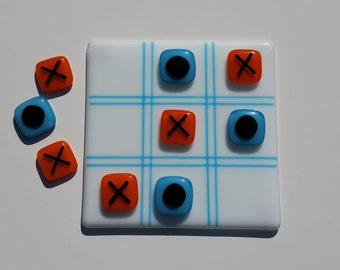 Tic Tac Toe - Fused Glass Game