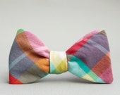 candy colored self tie bow tie
