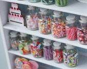 Children's Dream, Miniature Candy Cabinet in Pastel, 1/12 Dollhouse Scale