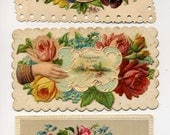 Vicorian Calling Cards - Three Different - Late 1800's