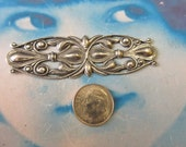 Sterling Silver Ox Plated  Filigree Connector Stamping  Bent or Straight 219SOX x1