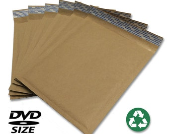 "Size #0 (6.5""x9"") Recycled Brown Kraft Bubble Mailer - Free Shipping!"