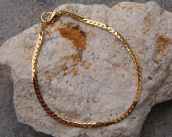 Bracelet, Chain Link Bracelet, Fashion Chain Link Bracelet, Gold Tone Bracelet, Gold Link Bracelet, 80s Bracelet
