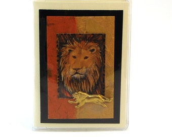 Lion Wallet Bank Card Business Card Organizer Book Style