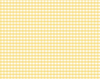 Riley Blake Designs, Small Gingham in Yellow (C440 50)