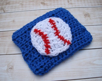 Baby Diaper Cover, Baby Boy Diaper Cover, Baseball Diaper Cover, Baby Boy Photo Prop, Crochet Diaper Cover, Newborn Diaper Cover, Blue, Red