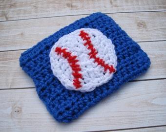 Baby Baseball Diaper Cover, Newborn Boy Diaper Cover, Baseball Baby Prop, Infant Boy Soaker, Blue, Baby Shower Gift,