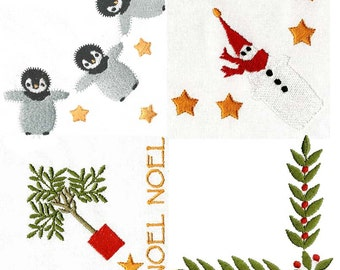 CHRISTMAS CORNERS Machine Embroidery Designs