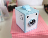 PASTEL Vintage Box Cameras - includes all 4 colours - Printable PDF paper craft project