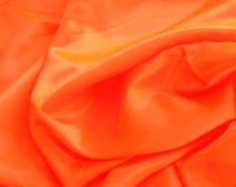 Crepe Back satin fabric, bright orange, 1 1/4 yards, destash, bridal satin, sewing supply, shiny, apparel, crafts, wedding material, sheen