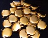 Teeny Tiny Shiny Gold Charm Locket - A La Carte