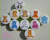 Safari Knobs • Safari Animal Knobs • Woodland • Drawer Pulls • Jungle Knobs • Elephant • Bear • Lion • Panda • Zebra • Tiger • Drawer Knobs