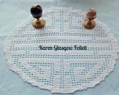 Feng Shui Harmony Balance Energy Filet Crochet Doily Reserve for BCalmAndBoutiqueOn