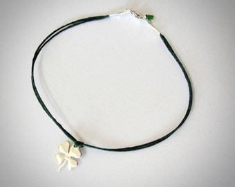 St. Patricks Clover bracelet sterling silver four leaf clover bracelet irish luck shamrock bracelet Graduation Gift