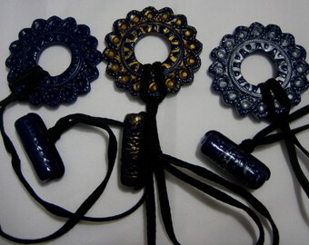 Dreadlocks Hair tie or Ponytail Holder for Dreads or Thick Hair or Sisterlocks Midnight Blue Chooose A Finish