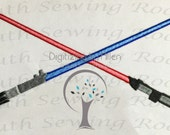 Star Wars Cross Light Sabers, Embroidery Design
