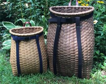 LARGE Hand woven Adirondack Pack Basket - Adult Woven Backpack - Pack Basket - Adirondack Pack - Adirondack Backpack