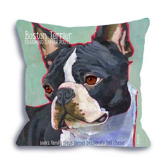 Home Decor Boston: Boston Terrier Pillow Boston Terrier Home Decor Art Pillow
