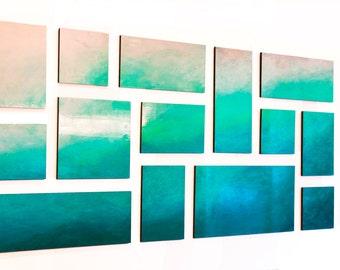 Large Wall Art | Wood Wall Art | Modern Wall Decor | Geometric Custom Art | Painted Wood Wall Sculpture | Rosemary Pierce Modern Art