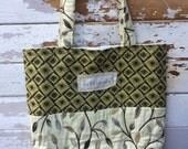 Vintage fabric tote, market bag