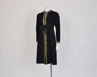 1960s dress / Hey Stud Vintage 60's Mollie Parnis Studded Dress