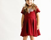 Sparkles and lace twirl dress