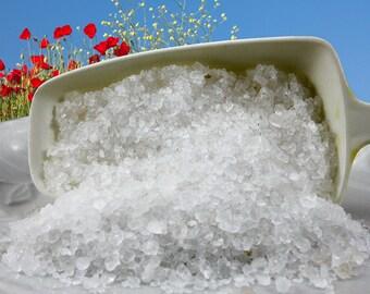Unscented Bath Salt Blend: Dead Sea Salt, European Sea Salt and Pacific Sea Salt, Natural Bodycare or Craft Supply, 1 lb, 16 oz