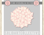 Pink HYDRANGEA Custom Vector Design - ok for Logos, Merchandising, Commercial, Invitations and More!