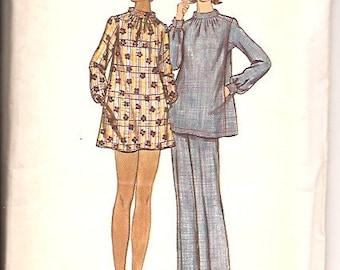 Butterick 5609 Vintage 70s Dress Tunic Pants Sewing Pattern Size 16 Bust 38 UNCUT