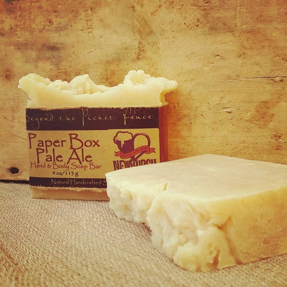 Paper Box Pale Ale Soap  beer soap made with Newburgh Brewing Company Pale Ale